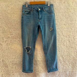 SWS Brooklyn Low Rise Distressed Boyfriend Jeans!